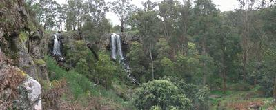 Pano of both falls