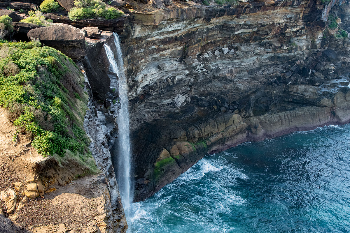 Curracurrong Falls empties directly into the ocean
