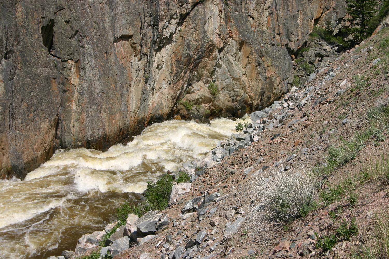 Poudre Falls, slot downstream