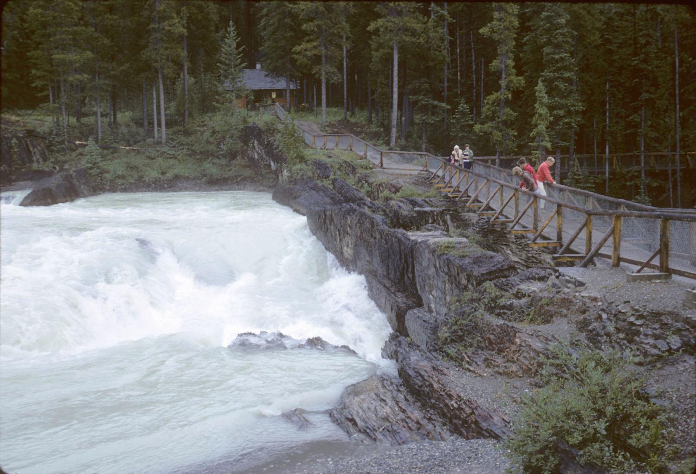 Natural Bridge Falls with a footbridge!