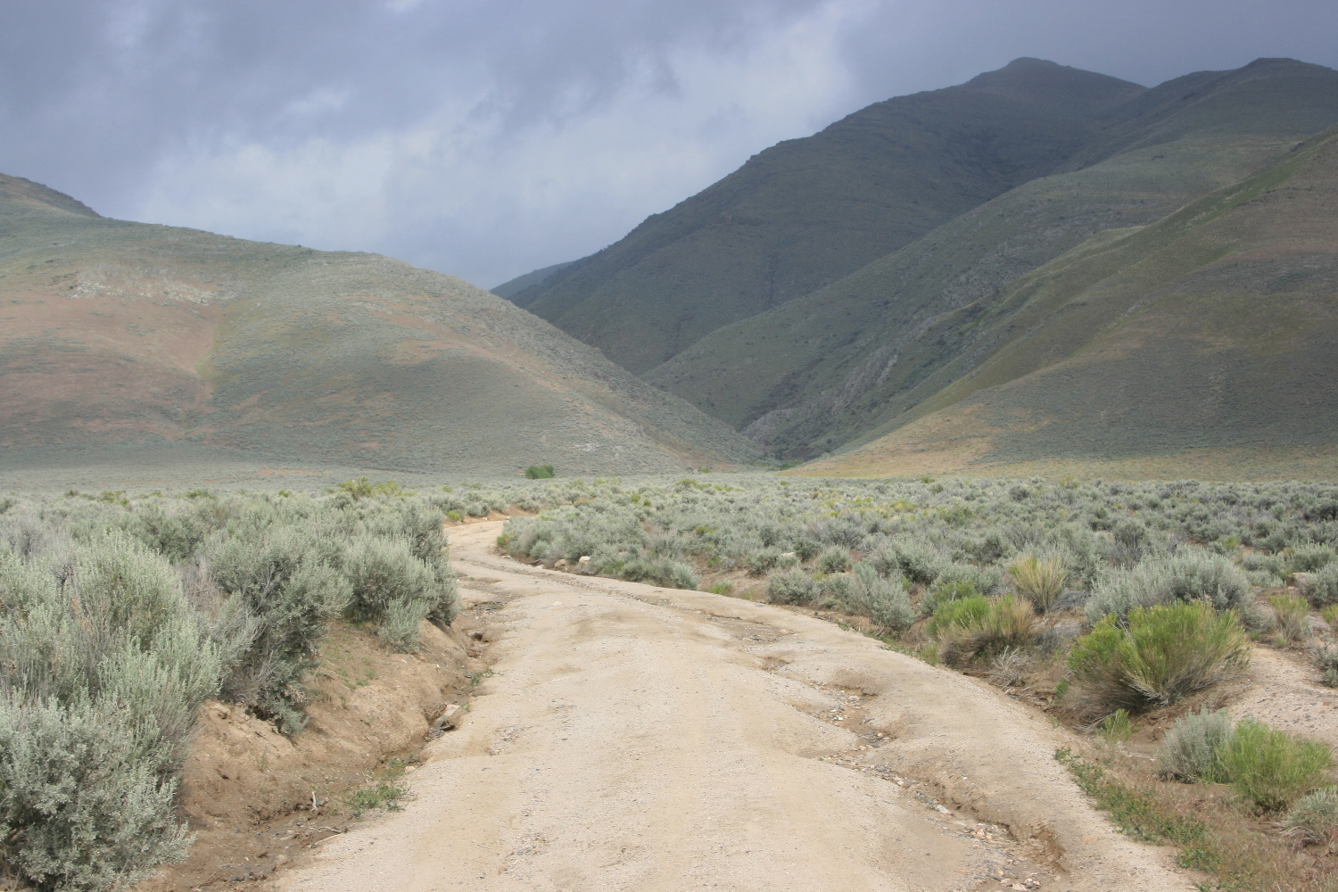 The road up to Horse Canyon. Do NOT continue into Horse Canyon; turn off to the right through here.