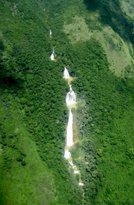 Cadena de Cascadas El Chiflon, Tzimol, Chiapas, Mexico
