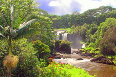 Waiale Falls Hilo Big Island Garden Of Eden World Of Waterfalls