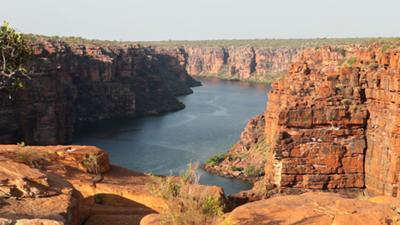 View from the top of King George Falls