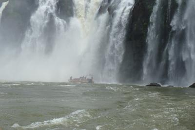Boat Going into Iguazu Falls