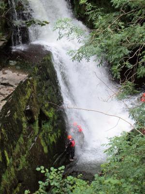 Canyoning at Sgwd Clun Gwyn