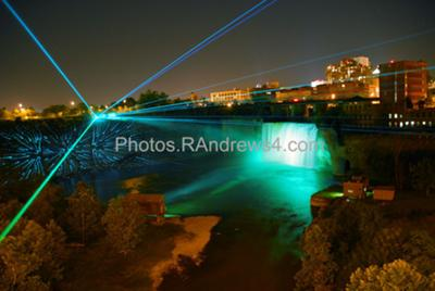 High Falls Laser Light Show